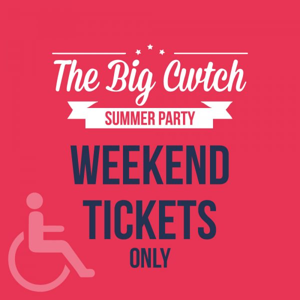 Disability Access Weekend Ticket at The Big Cwtch
